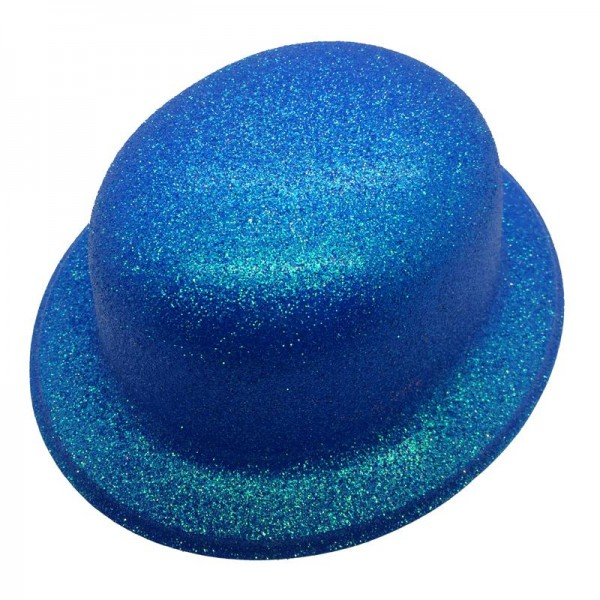 Chapeau melon bleu pailletté