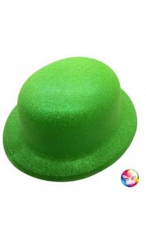 Chapeau melon vert pailletté