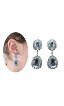 Boucle d'oreilles faux diamants