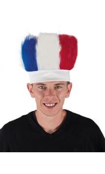 Perruque Bandeau Tricolore France
