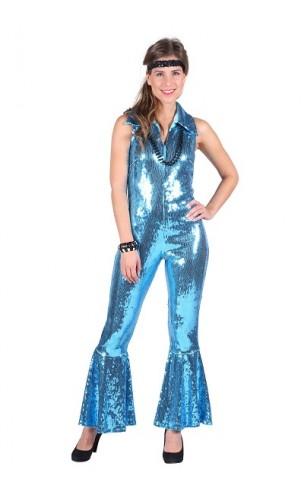 Combinaison disco turquoise luxe