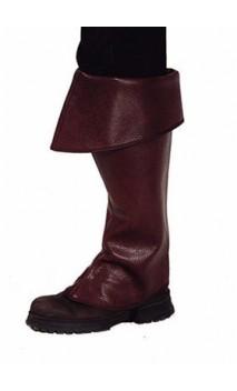 Sur-bottes marron simili cuir