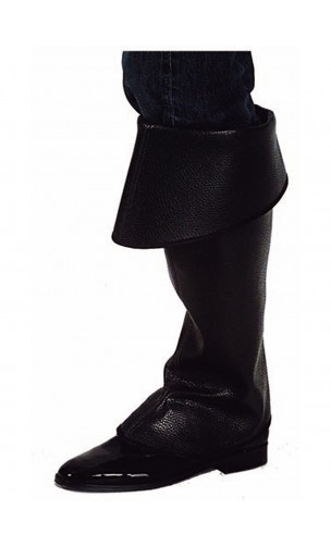 Sur-bottes noire simili cuir