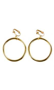 Boucles d'oreilles anneaux dorés