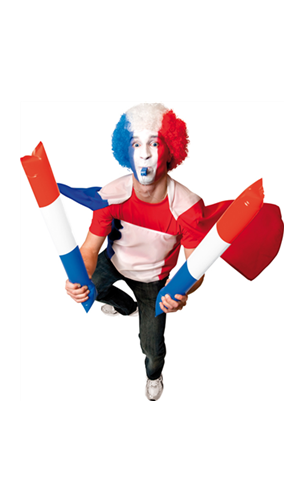 Clap tricolore supporter France