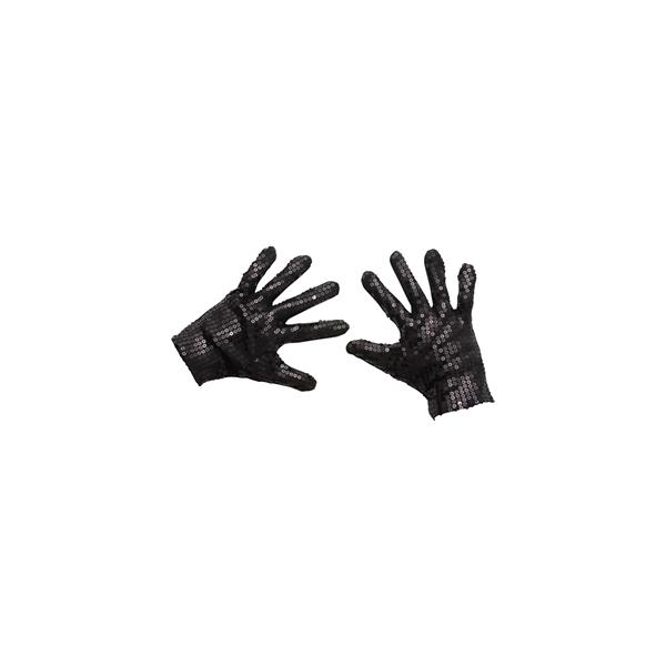Gants paillettés noir jackson
