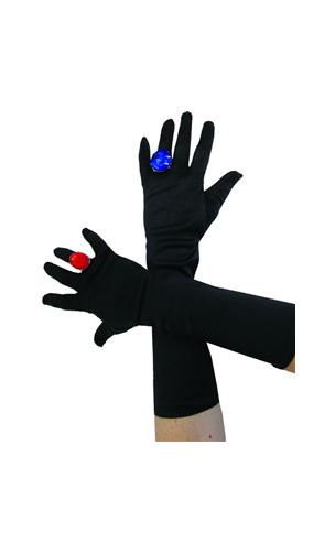 Gants noir satiné 40 cm