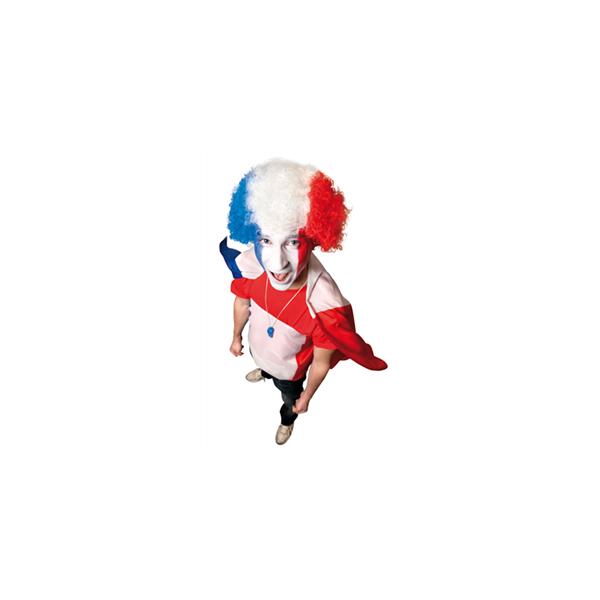 Perruque supporter tricolore