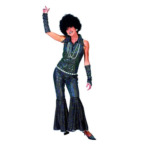 Combinaison disco noire femme