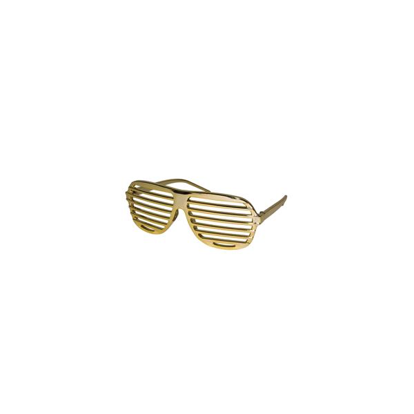 Lunettes shutter doré