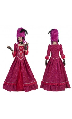 Robe marquise baroque rose