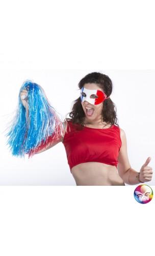Masque loup supporter tricolore
