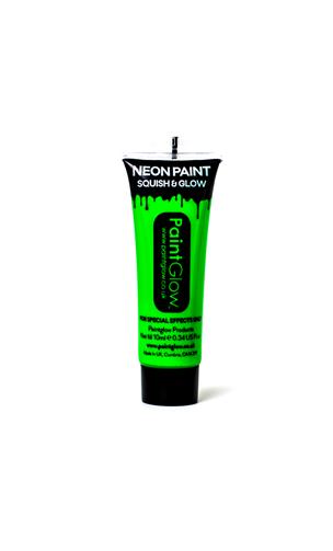 Maquillage fluo fard UV vert