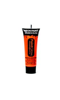 Maquillage fluo fard UV orange