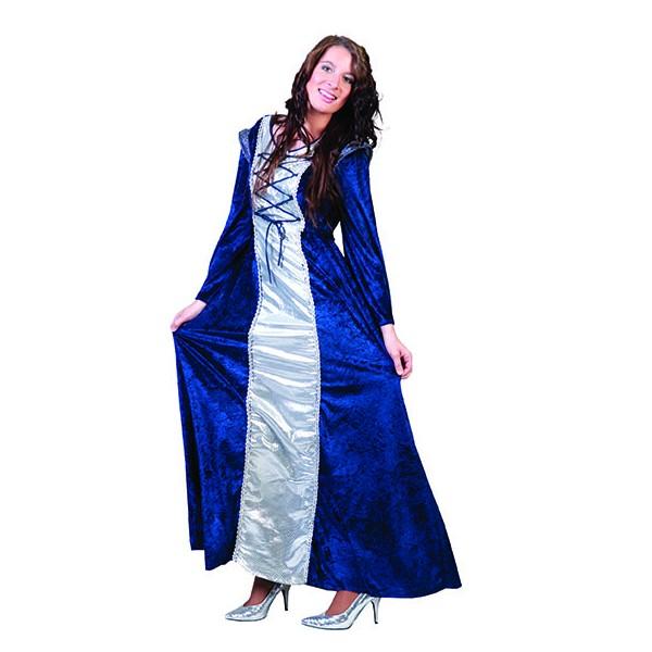 Robe moyen-âge agathe bleu