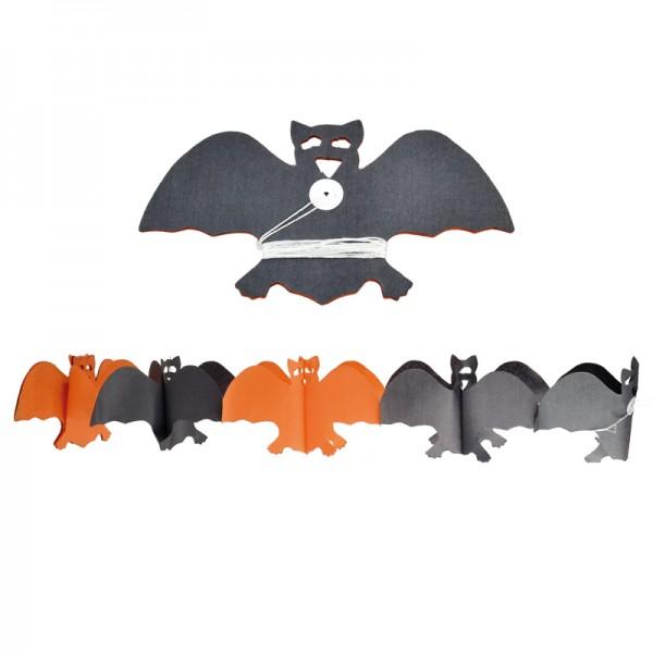 Guirlande chauve souris orange noir