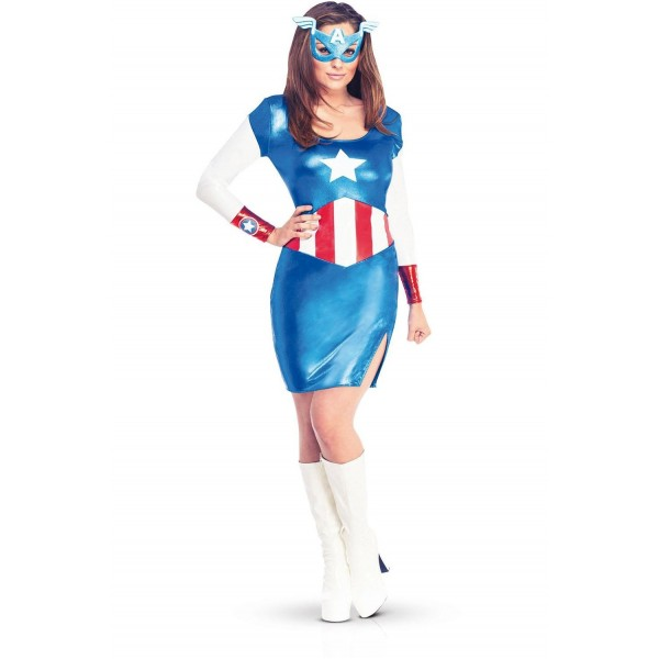 dguisement captain america fille - Super Heros Fille