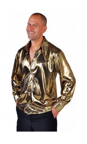 Chemise disco dorée
