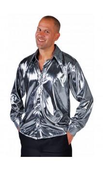 Chemise disco argenté