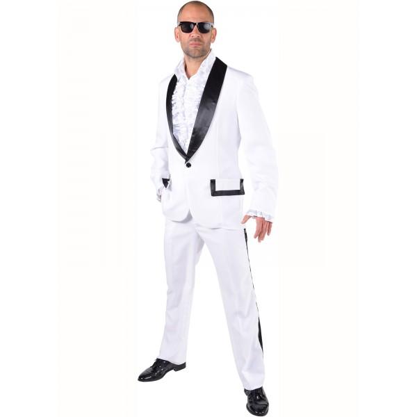 Costume smoking chic blanc