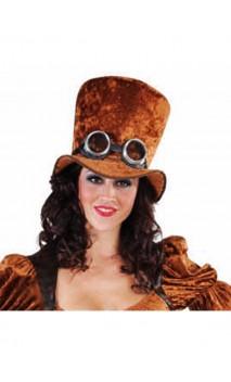 Chapeau HDF steampunk marron