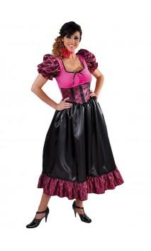 Déguisement Saloon femme rose