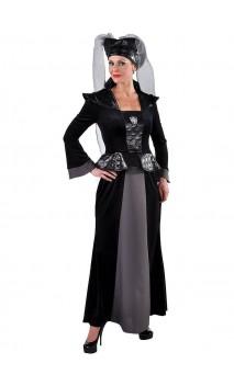 Déguisement reine médiévale noire