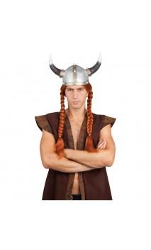 Perruque gaulois viking avec tresse