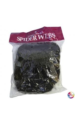 Toile d'araignée noire 100g