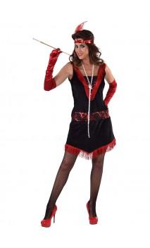 Robe charleston noire et rouge