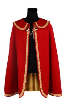 Cape prince et roi rouge luxe