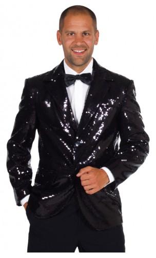 Veste paillettes disco noire