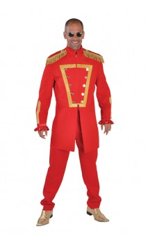 Veste sergent Peppers rouge luxe