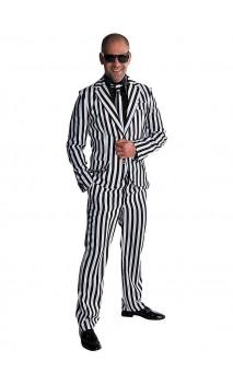 Costume borsalino noir et blanc