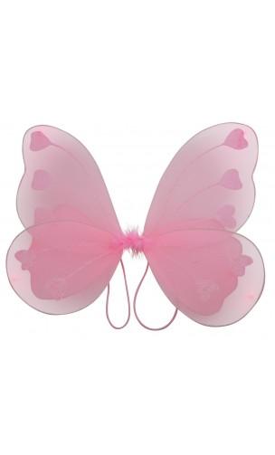 Ailes de papillon rose