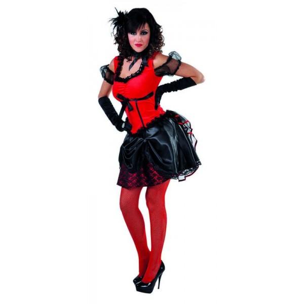 Déguisement saloon rouge et noir