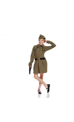 Déguisement soldat fille