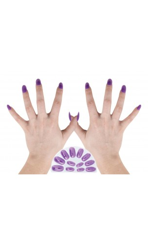 10 Faux ongles violets