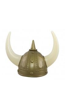 Casque viking avec grande cornes