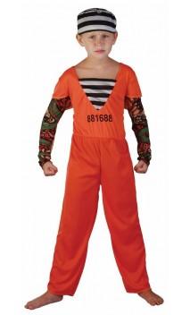 Déguisement prisonnier orange enfant