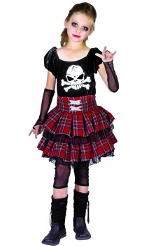 Déguisement punk gothique enfant