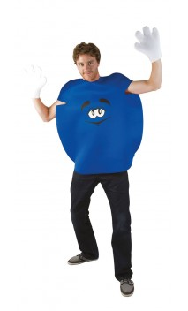 Déguisement bonbon bleu m&m's