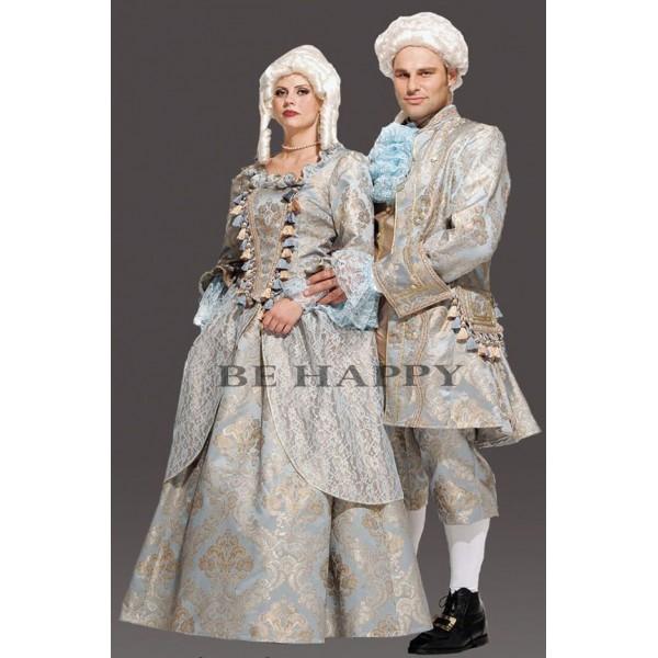 Location veste de marquis Louis 16 bleu pour adulte en location Paris 9815224e2da