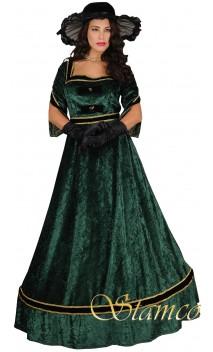 Robe alexandra 1900's verte