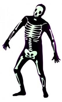Combinaison seconde peau squelette
