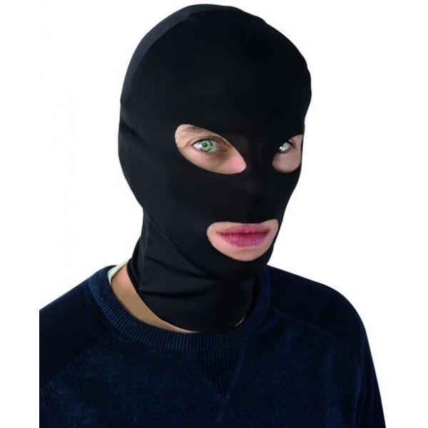 Cagoule ninja, cambrioleur noire