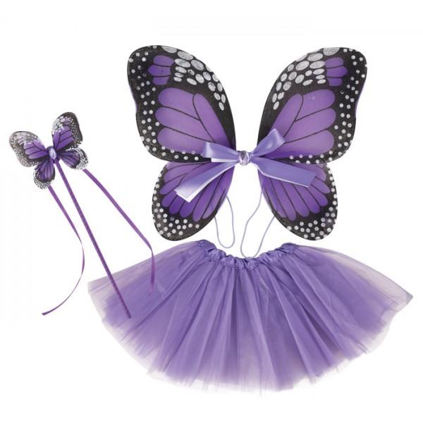 Set de papillon violet 3 pièces