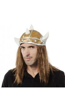 Casque viking souple avec cheveux