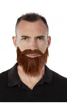 Moustache et collier barbe roux
