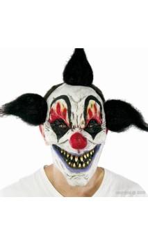 Masque clown maléfique cheveux noir